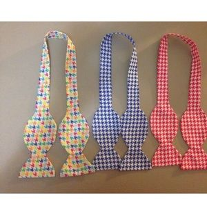 3 Men's Self tie Bow tie Gingham: Size 15-15.5